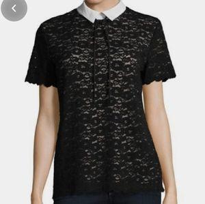 Karl Lagerfeld Paris lace blouse